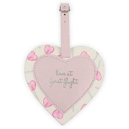 LC Lauren Conrad Love At First Flight Heart Shaped Luggage Tag