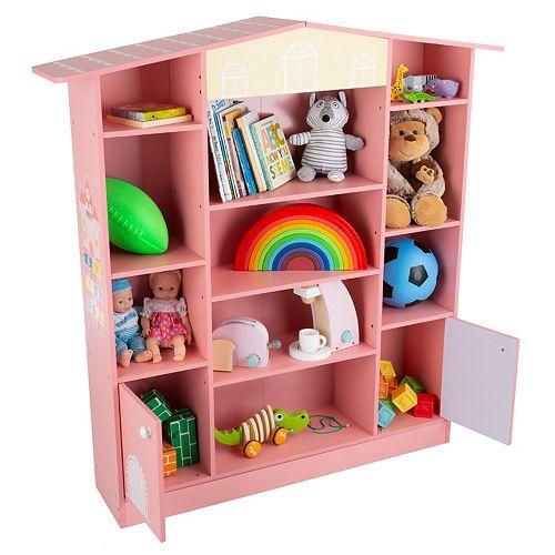 Hey! Play! Dollhouse Shaped Bookcase