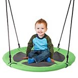 Hey! Play! 40-Inch Diameter Round Disk Hanging Tree Swing