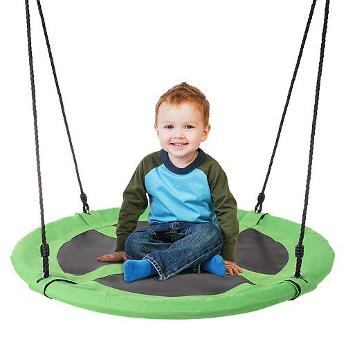 Hey! Play! 40-Inch Diameter Round Disk Hanging Tree Swing