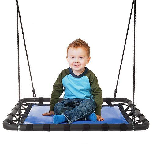 Hey! Play! Hanging Outdoor Tree or Playground Equipment Platform Standing Swing