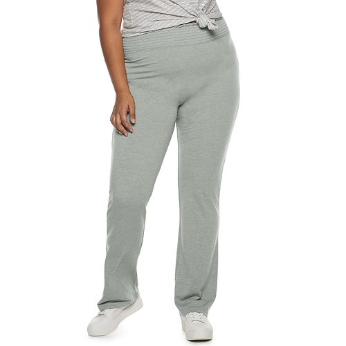 Juniors' Plus Size SO® Smocked Waistband High Rise Lounge Pants