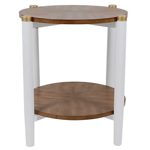 Decor Therapy Gabby Two-Tone Side Table