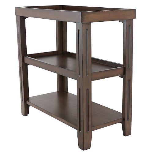 Decor Therapy Trace Three-Shelf Table
