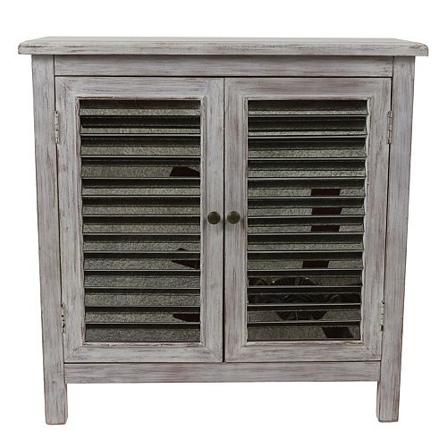 Decor Therapy 2-Door Mirrored Accent Chest