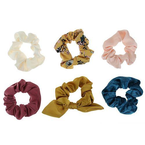 SO® 6-Pack Satin & Floral Twister Hair Ties