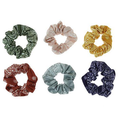 SO® 6-pack Bandana Print Twister Hair Tie Set