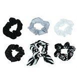 SO® 6-pack Zebra & Velvet Twister Hair Tie Set