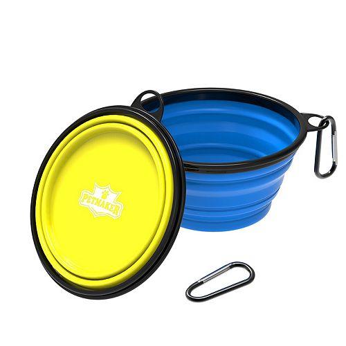PetMaker 32-oz. Collapsible Silicone Pet Bowls