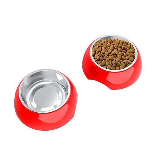 PetMaker 6-oz. Stainless Steel Pet Bowl 2-Piece Set
