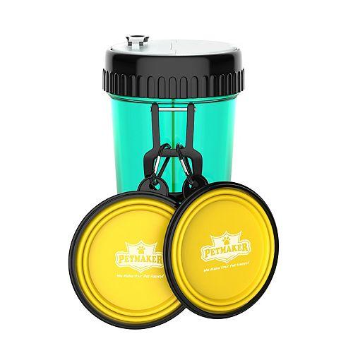 PetMaker 3-In-1 Travel Pet Food & Water Set