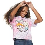 Juniors' Tie-Dyed Nickelodeon Rugrats Cropped Tee