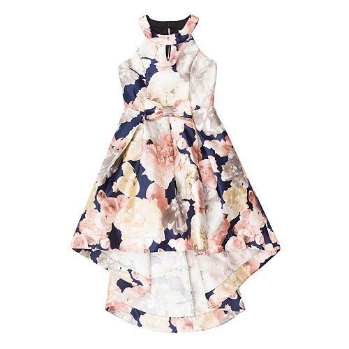 Girls 7-16 Speechless Floral High-Low Halter Dress