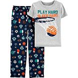 Boys 4-12 Carter's Basketball Top & Bottoms Pajama Set
