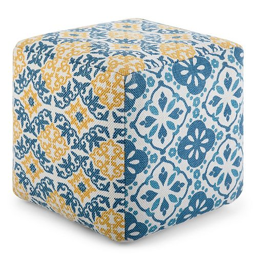 Simpli Home Channing Square Pouf