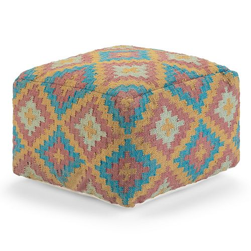 Simpli Home Martina Square Pouf