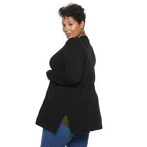 Plus Size Verve Ami Lace-Up Shoulder Cardigan