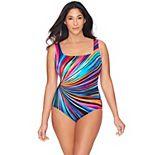 Great Lengths Colorwheel D-Cup Long Torso One-Piece Swimsuit