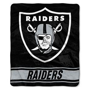 "The Northwest Company Oakland Raiders 50"" x 60"" Stabilize Raschel Plush Throw Blanket"