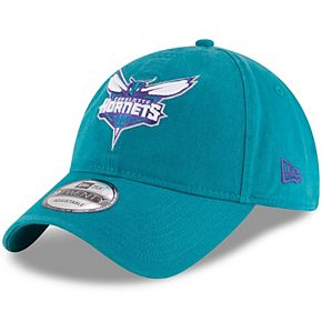Men's New Era Teal Charlotte Hornets Official Team Color 9TWENTY Adjustable Hat