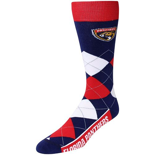 For Bare Feet Florida Panthers Argyle Crew Socks