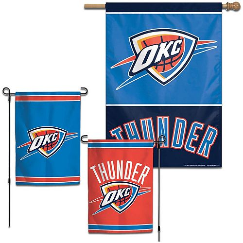 WinCraft Oklahoma City Thunder House and Garden Flag Pack