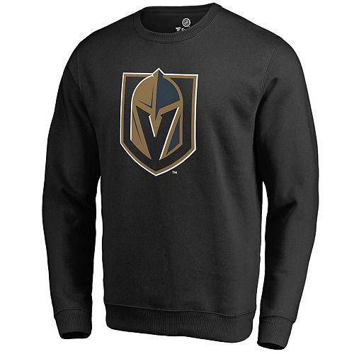 Men's Fanatics Branded Black Vegas Golden Knights Primary Team Logo Pullover Sweatshirt