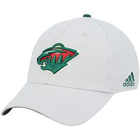 Men's adidas Gray Minnesota Wild Coaches Flex Hat