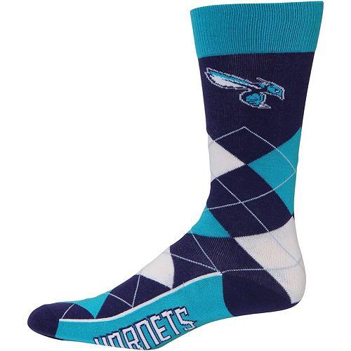 For Bare Feet Charlotte Hornets Argyle Crew Socks