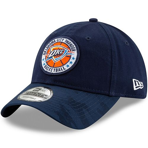 Men's New Era Navy Oklahoma City Thunder 2018 Tip-Off Series 9TWENTY Adjustable Hat