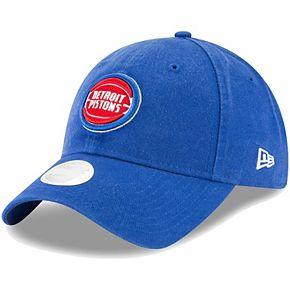 Women's New Era Blue Detroit Pistons Core Classic 9TWENTY Adjustable Hat