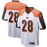 Men's Nike Joe Mixon White Cincinnati Bengals Player Game Jersey
