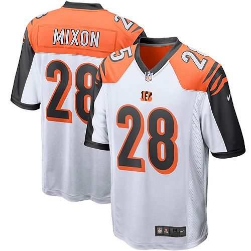 Men's Nike Joe Mixon White Cincinnati Bengals Player Game Jersey