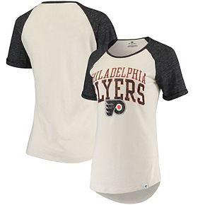 Women's Fanatics Branded Cream Philadelphia Flyers True Classics Raglan T-Shirt
