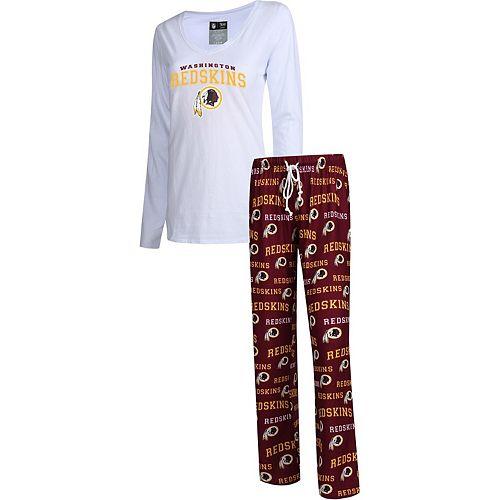 Women's Concepts Sport Burgundy Washington Redskins Fairway Long Sleeve T-Shirt & Pants Sleep Set