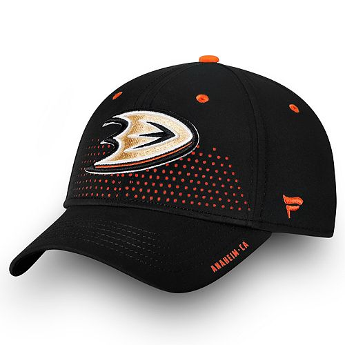 Men's Fanatics Branded Black Anaheim Ducks 2018 Draft Flex Hat