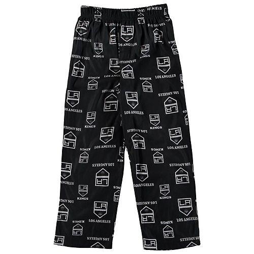 Preschool Black Los Angeles Kings Team Logo Printed Pajama Pants