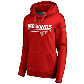 Women's Fanatics Branded Red Detroit Red Wings Authentic Pro Rinkside Prime Pullover Hoodie