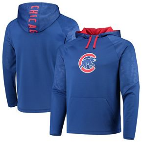 Men's Fanatics Branded Royal Chicago Cubs Defender Mission Primary Logo Pullover Hoodie
