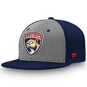Men's Fanatics Branded Gray/Navy Florida Panthers Versalux Fitted Hat