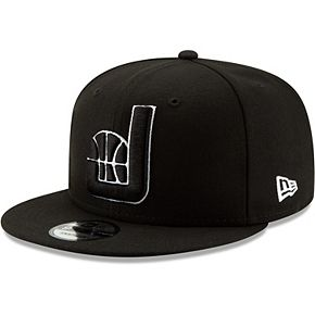 Men's New Era Black Utah Jazz Back Half Series 9FIFTY Adjustable Snapback Hat