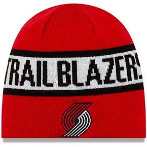 Men's New Era Red/Black Portland Trail Blazers Reverse Knit Beanie