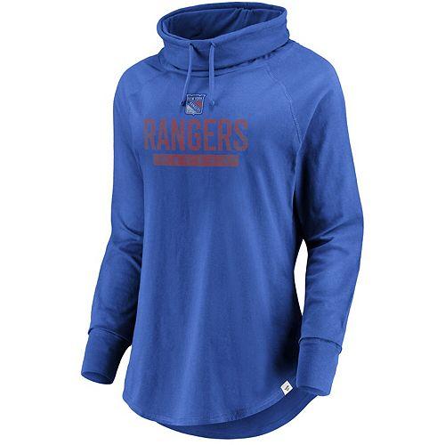 Women's Fanatics Branded Blue New York Rangers Be A Pro Cowl Neck Sweatshirt