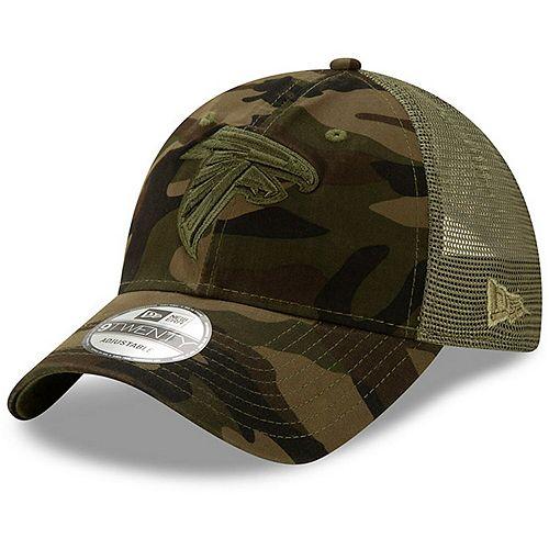 Preschool New Era Camo/Olive Atlanta Falcons Tonal Camo Trucker 9TWENTY Snapback Adjustable Hat