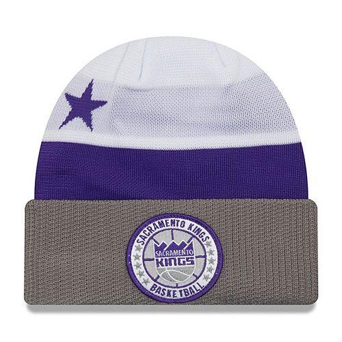 Men's New Era White Sacramento Kings 2018 Tip Off Series Cuffed Knit Hat