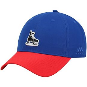 Men's adidas Blue/Red New York Rangers Coaches Two-Tone Skate Slouch Adjustable Hat