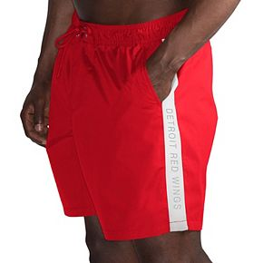Men's G-III Sports by Carl Banks Red/White Detroit Red Wings Volley Swim Shorts