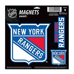 "New York Rangers WinCraft 11"" x 11"" 3-Pack Vinyl Magnet Set"