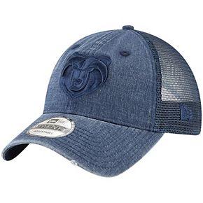 Men's New Era Navy Memphis Grizzlies Tonal Washed Trucker 9TWENTY Adjustable Snapback Hat