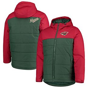 Men's G-III Sports by Carl Banks Green/Red Minnesota Wild Exploration Polyfill Hooded Parka